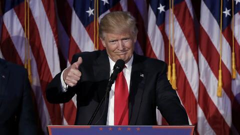El discurso de Donald Trump tras ser elegido como presidente de Estados...