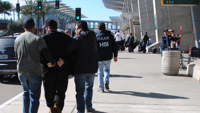 Joel Wright al momento de ser arrestado.