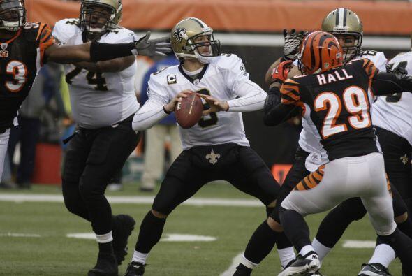 E-10. Drew Brees - 510 yardas: New Orleans Saints vs. Cincinnati Bengals...