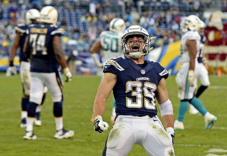 Danny Woodhead anotó cuatro touchdowns, tres por recepción y uno por aca...