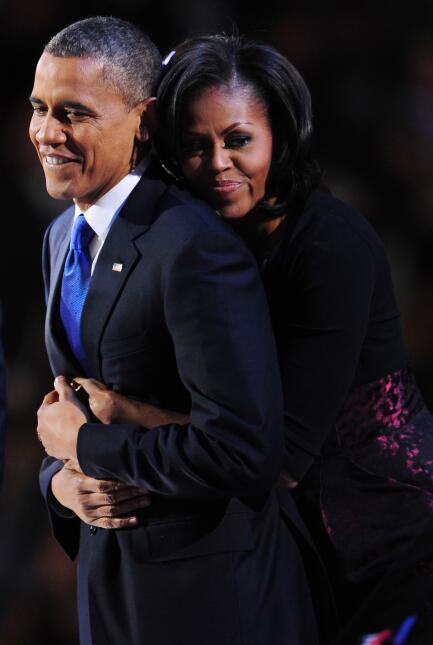 Michelle y Barack Obama: los amantes de la Casa Blanca GettyImages-15569...
