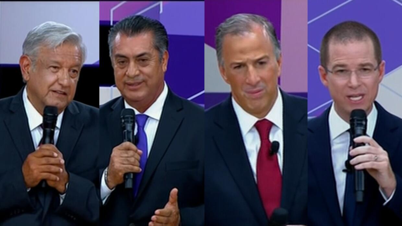 Resultado de imagen para candidatos mexico segundo debate 2018