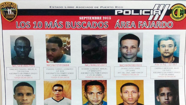 Criminales más buscados de Fajardo