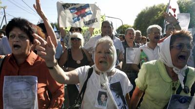 Nora Cortiñas en una manifestación en Buenos Aires