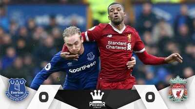 Everton y Liverpool no logran hacerse daño y terminaron 0-0