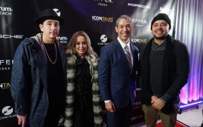 (Left to right): DJ Automatic, Dana Cortez, Mayor Ron Nirenberg and Anth...