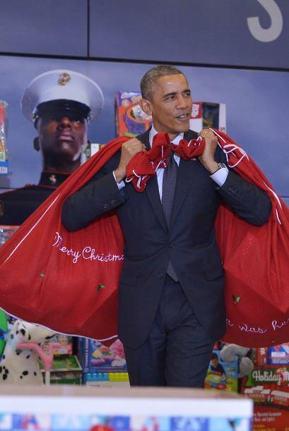 El presidente de Estados Unidos lució como todo un ´santa&a...