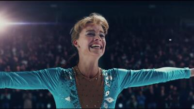 Actress Margot Robbie portrays real-life professional skater Tonya Hardi...