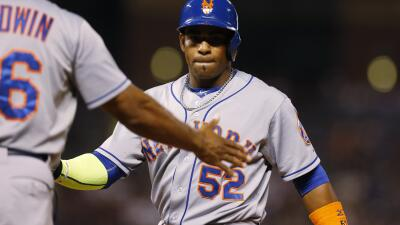 Yoenis guió a los Mets a un triunfo de 14x9 con siete carreras impulsadas.