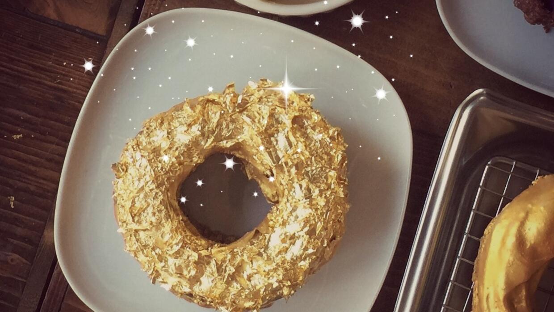 Donas de oro de 24 quilates que sí te puedes comer