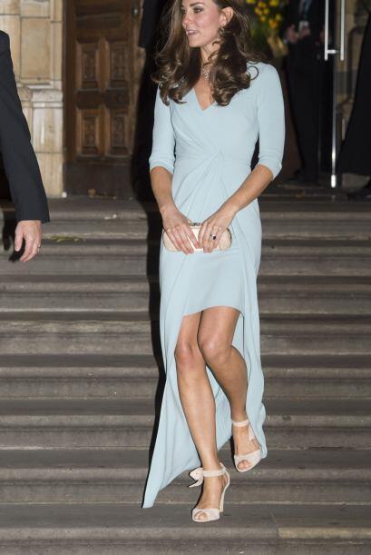 Kate también lució radiante en uno de los lugares más significativos par...