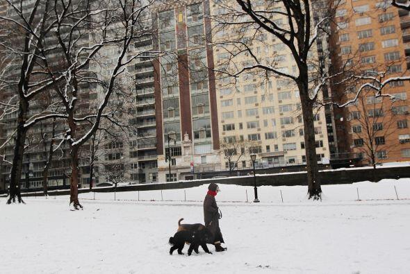 El reporte del Servicio Nacional del Clima señaló nieve en...