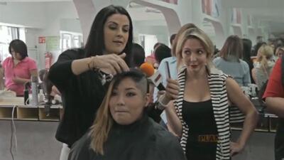 Lidia se volvió una maestra de la belleza del cabello