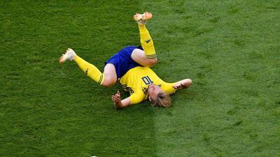 El desaparecido Emil Forsberg fue el reflejo de un discreto Suecia en cuartos de final