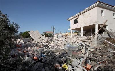 Los escombros tras la explosión de la casa de Alcanar
