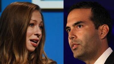 Chelsea Clinton hija de Bill y Hillary Clinton, y George P. Bush hijo de...