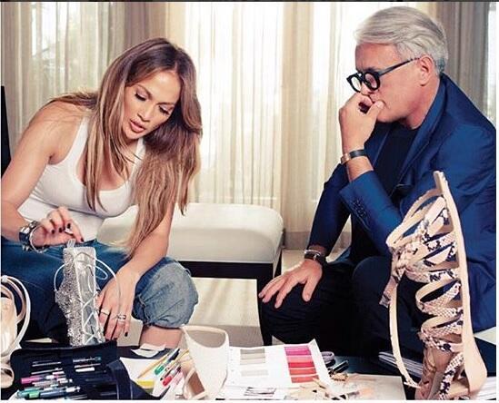 Diseñaron juntos la colección de zapatos
