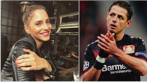 La actriz Andrea Duro y el futbolista Javier 'Chicharito' Hernánd...