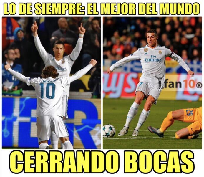 Real Madrid y CR7 golearon en la Champions y en los memes dplxka9vqaa0he...