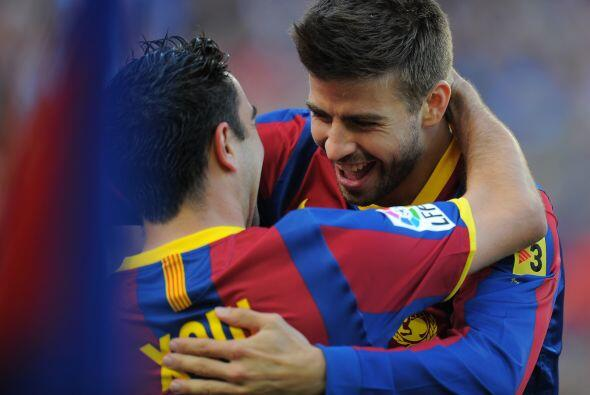 Con un cabezazo, marcó uno de los goles del Barcelona en la victo...