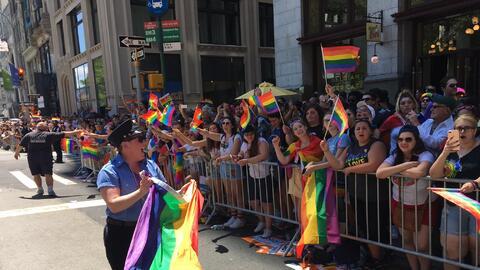 En Nueva York miles alzaron sus voces en solidaridad con la comunidad LG...