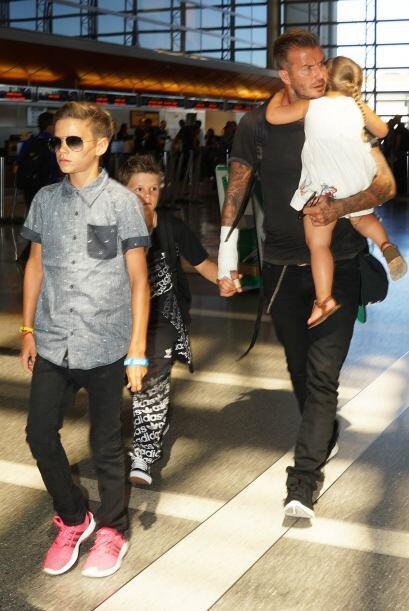 Se dice que Beckham sufrió un accidente, que le causó una lesión en el b...