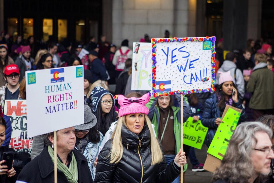 Mujeres en la marcha