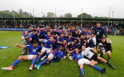 El Real Oviedo Vetusta consiguió subir a la Segunda B de Espa&nti...