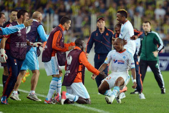 Pero a falta de siete minutos para el final, Mathieu Valbuena descontó y...