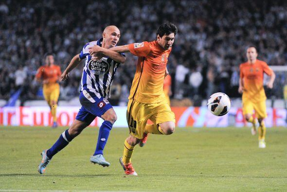 'La Pulga' dio una cátedra de fútbol, esta vez en Riazor cuando Barcelon...