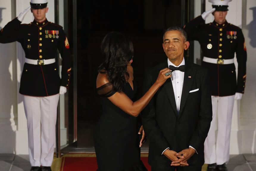 Michelle y Barack Obama: los amantes de la Casa Blanca GettyImages-49003...