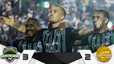Cafetaleros derrotó con agónico gol a Dorados en la ida de las 'semis' del Ascenso MX