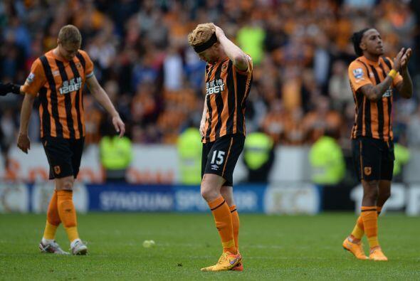 Este empate terminó condenando al Hull City al descenso.