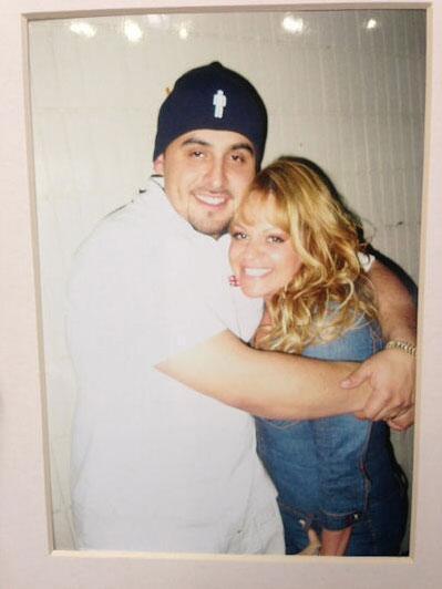 Jenni Rivera y su hermano Juan