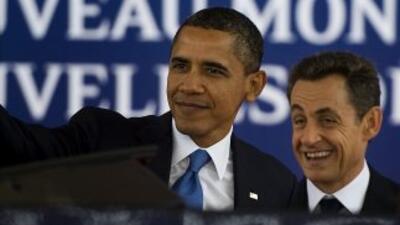 El presidente de EU, Barack Obama, arribó a Cannes, Francia, para asisti...