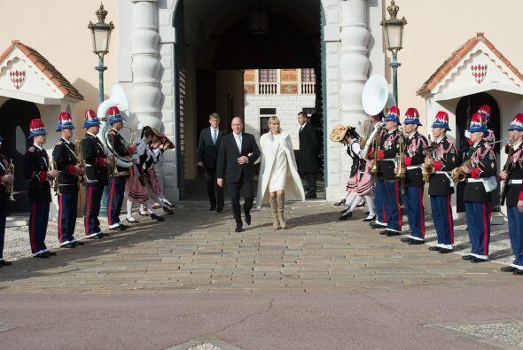 Fueron escoltados durante la ceremonia