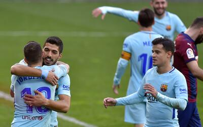 Los blaugranas vencieron este sábado 2-0 al Éibar.
