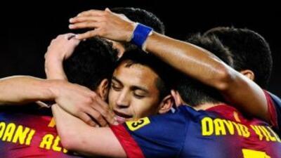 Alexis hizo el primer gol del Barcelona.