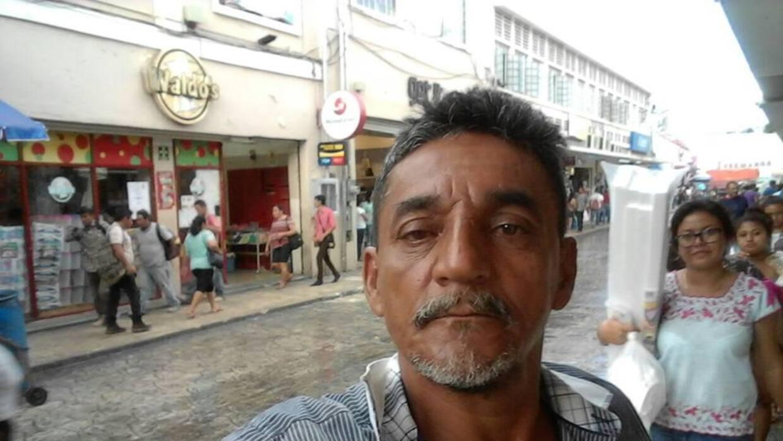 El periodista veracruzano Cándido Ríos Vázquez.