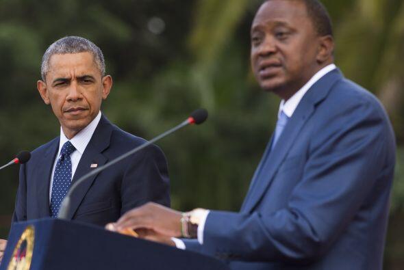 La intervención de Uhuru Kenyatta.
