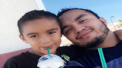 Héctor Miguel Garnica y su hijo Héctor Daniel, de 7, víctimas de la trag...