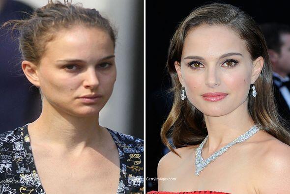 Al igual que Demi, Natalie Portman es otra que no se ve tan mal sin maqu...