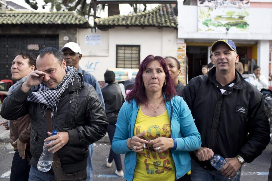Los cubanos se tenían que comunicar a través de gritos con los detenidos...