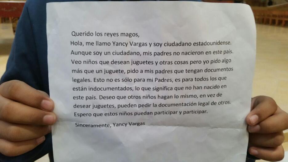En su inocencia, Yancy Vargas solicitó a los Reyes Magos que legalicen a...