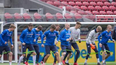 Entrenamiento 'vikingo': así fue la práctica de Islandia para su amistoso contra México