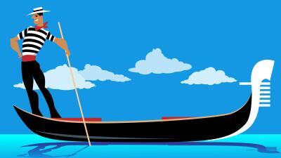Ilustración Hombre Gondola