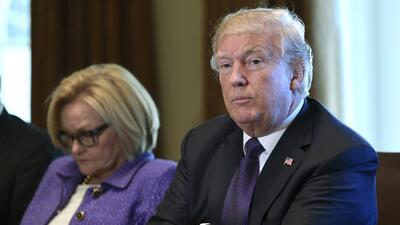 Trump durante una reunión este miércoles en la Casa Blanca.