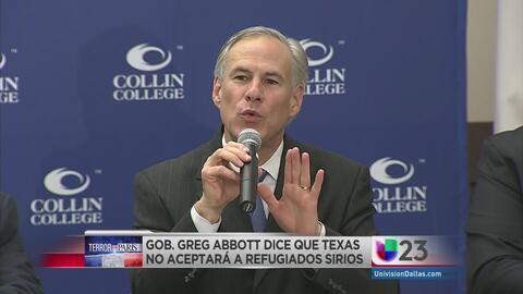 No quiere refugiados sirios en Texas