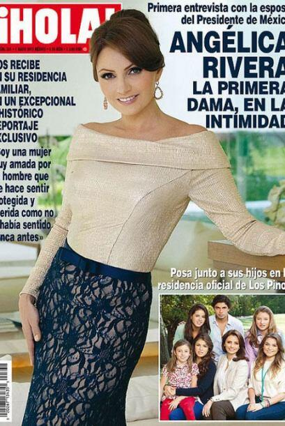 Tras la publicación en la revista Hola de México, en la que Angélica Riv...