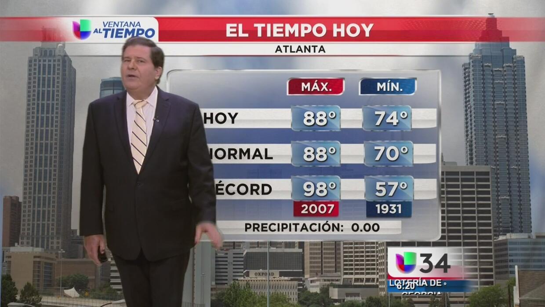 Día caluroso de verano en Atlanta